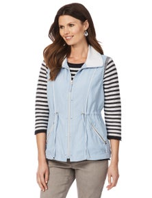 W.Lane Zip detail vest