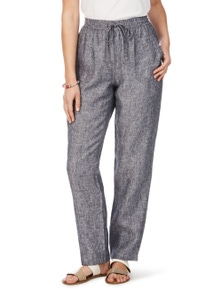 W.Lane Pocket Front Full Length Linen Pant
