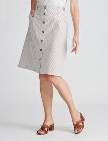 W.Lane Stripe Button Skirt