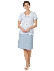 W.Lane Pocket Detail Linen Skirt