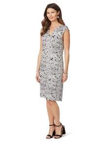 W.Lane Leaf Mono Print Dress