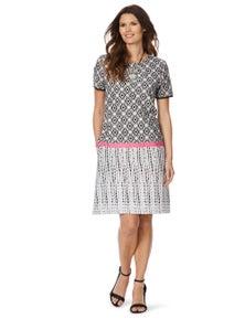 W.Lane Geo Border Print Dress