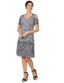 W.Lane Printed Cold Shoulder Dress