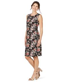 W.Lane Trim print dress