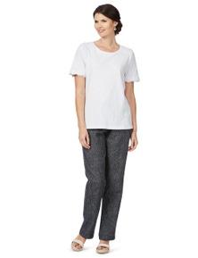 W.Lane Textured FL Linen Pant