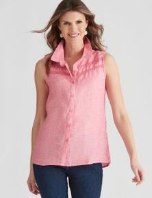 W.Lane Trim Detail S/less Shirt