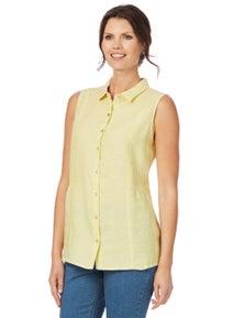 W.Lane Sleeveless Linen Shirt