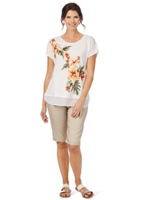 W.Lane Beaded Placement Tee