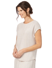 W.Lane Textured Knit Pullover