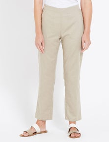 W.Lane Tapered Linen Ankle Pant