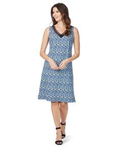 W.Lane Abstract Print Dress