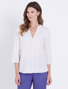 W.Lane Daisy Embroidered Blouse