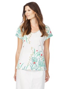 W.Lane Floral Placement Tee