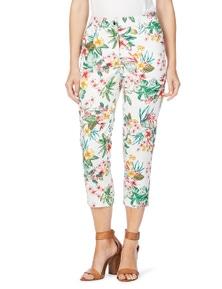 W.Lane Tropical Print Crop Jean