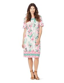 W.Lane Postcard Print Dress