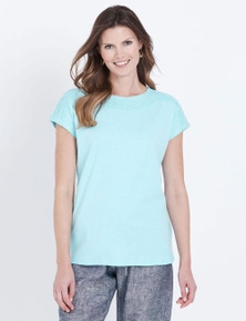 W.Lane Embroidered Trim Tee