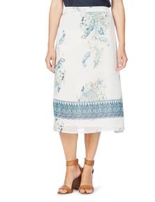 W.Lane Border Print Skirt