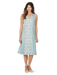 W.Lane Floral Burnout Dress