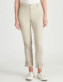 W.Lane Embroidered Ankle Pant