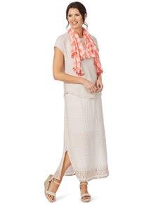 W.Lane Border Tile Print Skirt