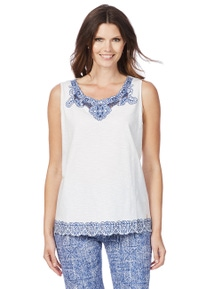 W.Lane Embroidered Sleeveless Top