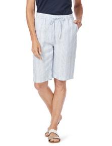 W.Lane Linen Stripe Short