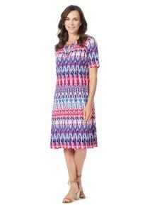 W.Lane Notch Print Dress