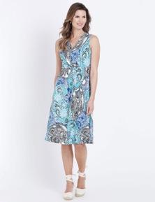 W.Lane Pleat Print Dress