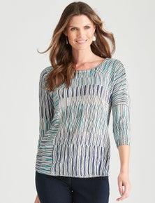 W.Lane Patchwork Stripe Knit