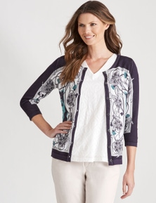 W.Lane Chain Print Cardigan