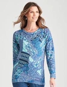 W.Lane Abstract Print Knit