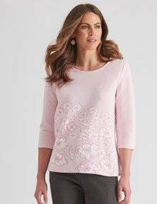 W.Lane Textured Floral Top