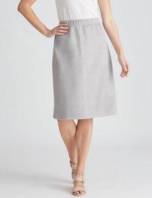 W.Lane Suedette A-Line Skirt