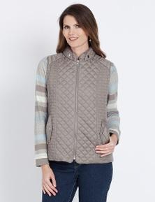 W.Lane Quilted Zip Vest
