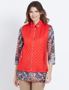 W.Lane Quilted Zip Vest