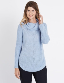 W.Lane Zip Trim Cowl Neck