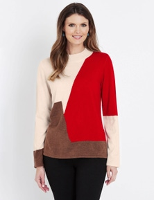 W.Lane Spliced Roll Neck Pullover