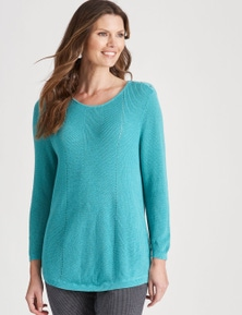 W.Lane Pointelle Button Pullover