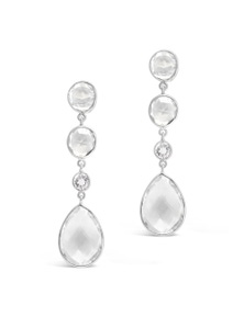 Fairfax and Roberts Real Gemstone Four Stone Drop Earrings