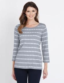 W.Lane Spot Stripe Pullover
