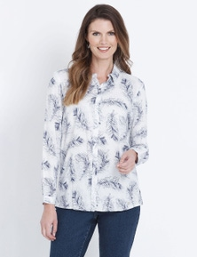 W.Lane Feather Print Shirt