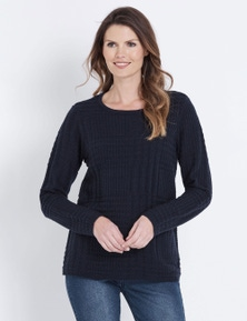 W.Lane Textured Check Pullover