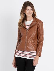 W.Lane Stitch Detail PU Jacket
