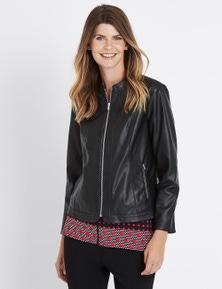 W.Lane Zip Panel PU Jacket