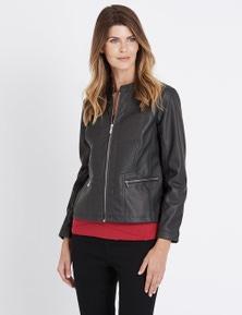 W.Lane Panelled PU Jacket