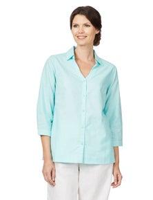 W.Lane Curved Hem Linen Shirt