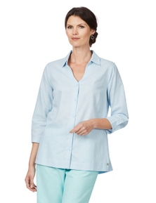 W.Lane Curved Hem Linen Shirt