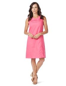W.Lane Cowl Neck Linen Dress