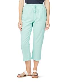 W.Lane Crop Linen Pant