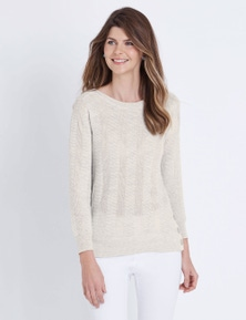 W.Lane Button Textured Knit